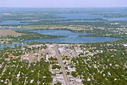 aerial view of alexandria mn